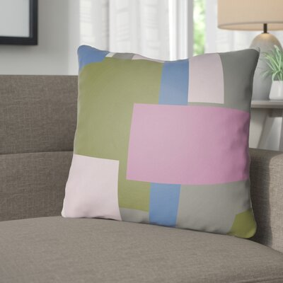 Wakefield Throw Pillow Size: 18 H x 18 W x 4 D, Color: Pink / Olive / Blue