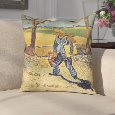 Zamora Self Portrait Square Zipper Pillow Cover Size: 14 x 14