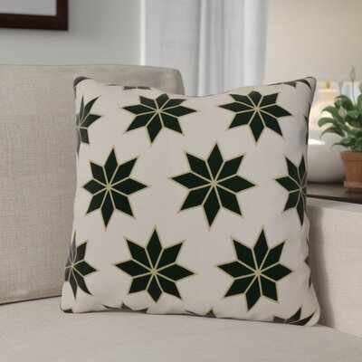 Decorative Holiday Indoor Geometric Print Throw Pillow Size: 26 H x 26 W, Color: Dark Green