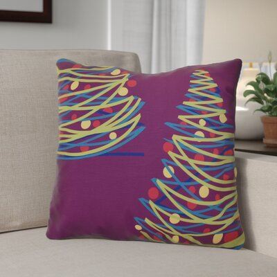 Christmas Tree Throw Pillow Size: 20