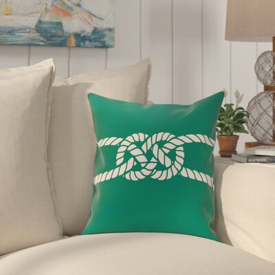 Hancock Carrick Bend Geometric Throw Pillow Size: 26 H x 26 W, Color: Green