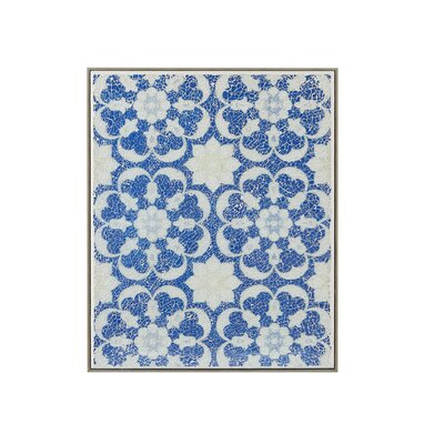 Mosaic Tile Floral Crushed Glass Wall Décor