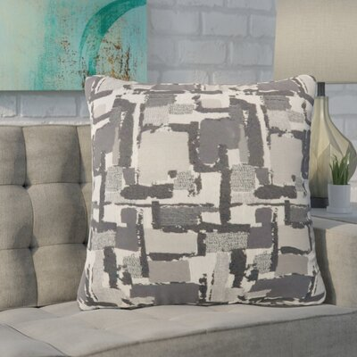 Shuff Mosaic Print Throw Pillow Color: Gray, Size: Small