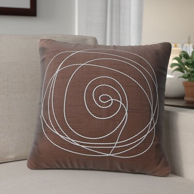 Mager Throw Pillow Color: Chocolate