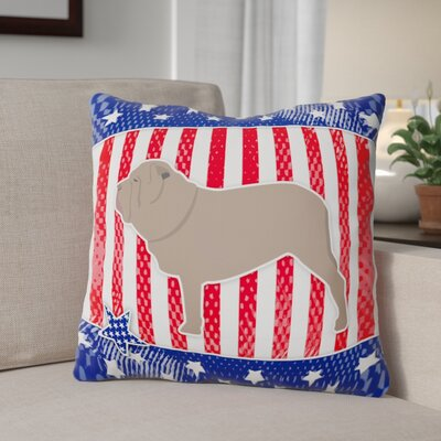 Patriotic Contemporary Square Indoor/Outdoor Throw Pillow Size: 18 H x 18 W x 3 D