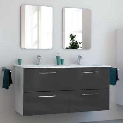 Iorio Modern 48 Wall-Mounted Bathroom Vanity Set Base Finish: Gray