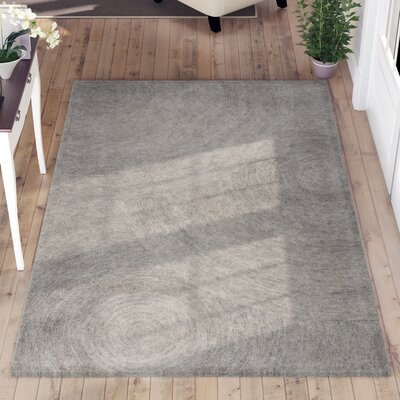 Zadiee Hand-Tufted 100% Wool Gray Area Rug Rug Size: Rectangle 8 x 10