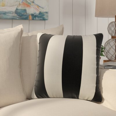 Mufeeda Indoor/Outdoor Throw Pillow Fabric: Black, Size: Extra Large