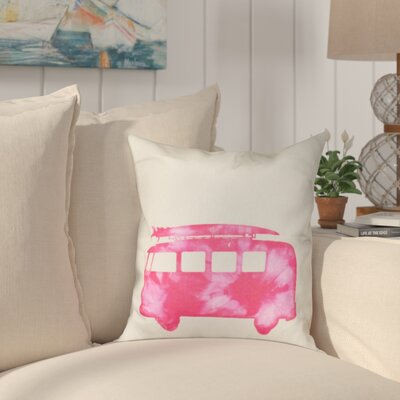 Golden Beach Beach Drive Geometric Outdoor Throw Pillow Size: 18 H x 18 W, Color: Pink