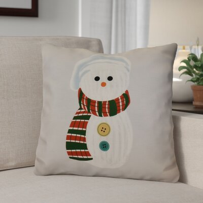 Sock Snowman Throw Pillow Size: 16 H x 16 W, Color: Gray