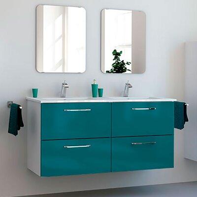 Iorio Modern 48 Wall-Mounted Bathroom Vanity Set Base Finish: Blue