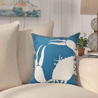 Shirley Mills Crab Outdoor Throw Pillow Size: 20 H x 20 W, Color: Teal