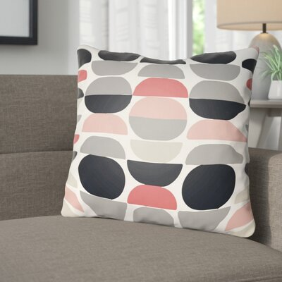 Wakefield Throw Pillow Size: 20 H x 20 W x 4 D, Color: Coral/Grey