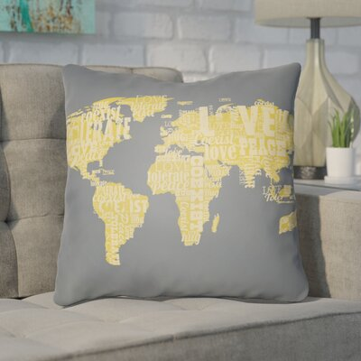 Bainum Square Throw Pillow Size: 20 H x 20 W x 4 D, Color: Grey