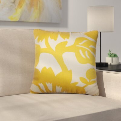 Pittman Floral Cotton Throw Pillow Size: 18 x 18