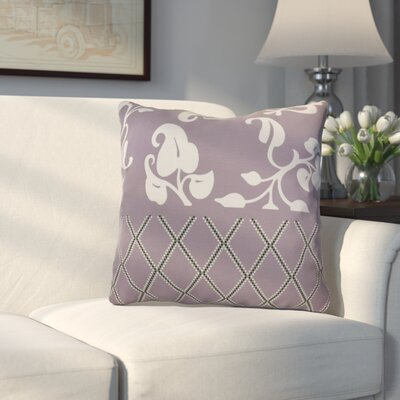 Decorative Holiday Floral Print Outdoor Throw Pillow Size: 18 H x 18 W, Color: Lavender