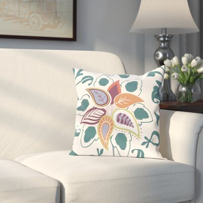 Orchard Lane Paisley Pop Floral Throw Pillow Size: 26 H x 26 W, Color: Teal
