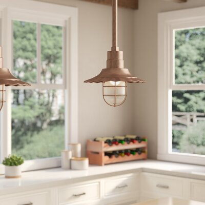 Fitzhugh 1-Light Mini Pendant Size: 11.25 H x 12 W, Finish: Copper