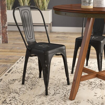 Ashlyn Dining Side Chair Finish: Black