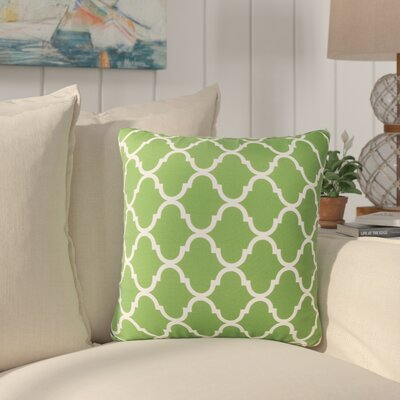 Milton Modern Throw Pillow Pillow Cover Color: Green
