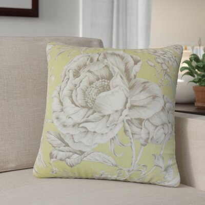 Alves Floral Cotton Throw Pillow