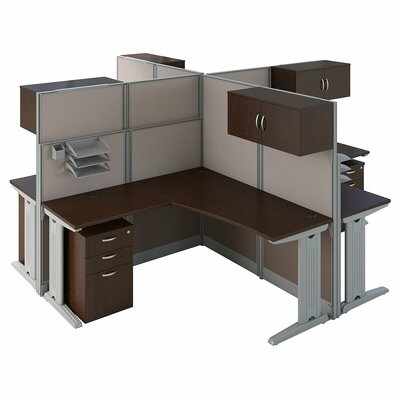 Cubicle Workstations L Shape Desk Suite Product Photo 467