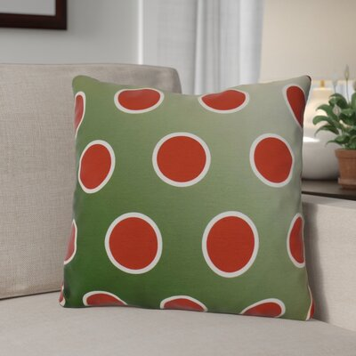 Holiday Bubbly Throw Pillow Size: 18 H x 18 W, Color: Green