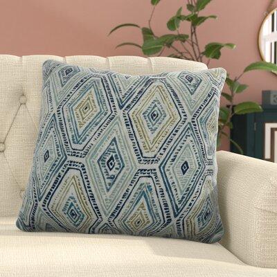 Dacey 100% Cotton Throw Pillow Color: Bluestone