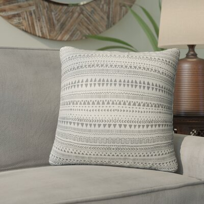 Byrne Throw Pillow Color: Tan/Gray, Size: 24 H x 24 W