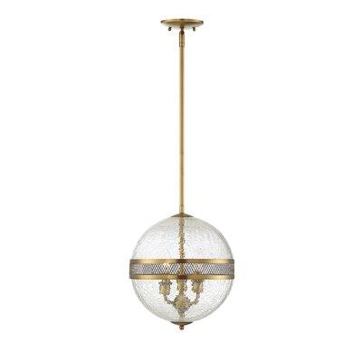 Creswell 3-Light Globe Pendant Finish: Warm Brass