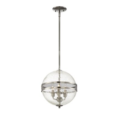 Creswell 3-Light Globe Pendant Finish: Polished Pewter