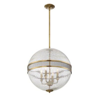 Creswell 4-Light Globe Pendant Finish: Warm Brass