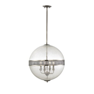 Creswell 4-Light Globe Pendant Finish: Polished Pewter
