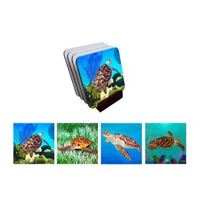 5 Piece Turtle Club Coaster Set 62EE1B8FE958425A9FCF12E24FAC5B7E