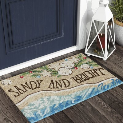 Nana Sandy and Bright Hand-Tufted Natural Indoor/Outdoor Area Rug Rug Size: 26 x 4
