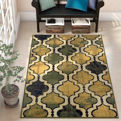 Colena Green Area Rug Rug Size: Rectangle 8 x 10