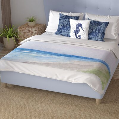 Rosie Brown Wet Sand Beach View Bed Runner