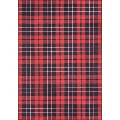 York Red Area Rug Rug Size: Rectangle 76 x 96