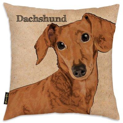 Crispin Dachshund Throw Pillow