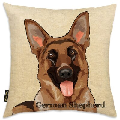 Crispin German Sheperd Throw Pillow