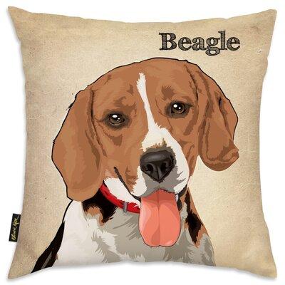 Crispin Beagle Throw Pillow