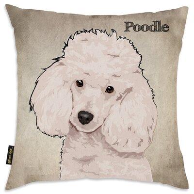 Crispin Poodle Throw Pillow