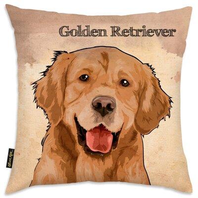 Crispin Golden Retreiver Throw Pillow