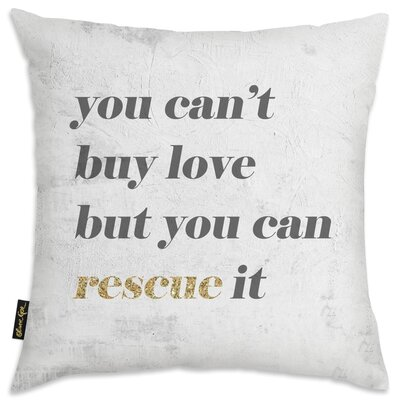 Cici Rescue Love Throw Pillow