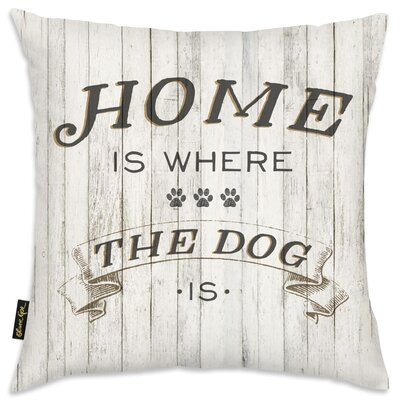 Iggy Home Is Where the Dog Is Throw Pillow
