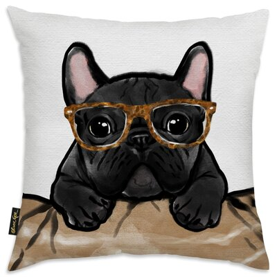 Faria Nerdy Frenchman Tortoise Throw Pillow