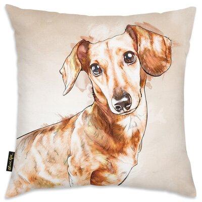 Wethington Watercolor Dachshund Throw Pillow