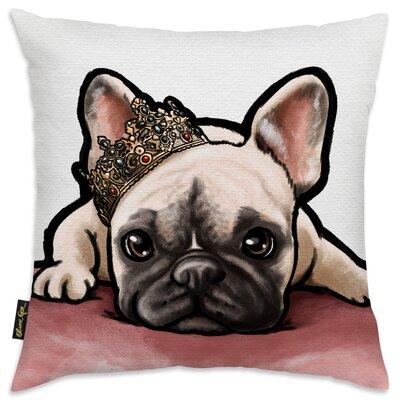 Solomon The Royal Frenchie Throw Pillow