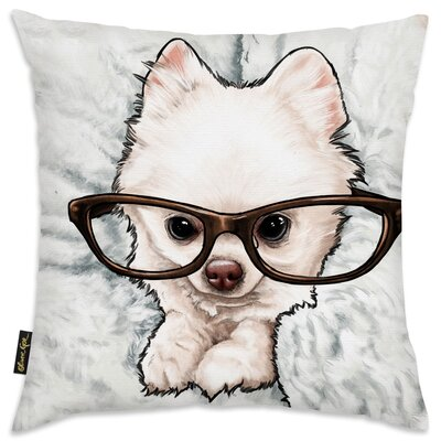 Faria Glasses and Fluff Throw Pillow