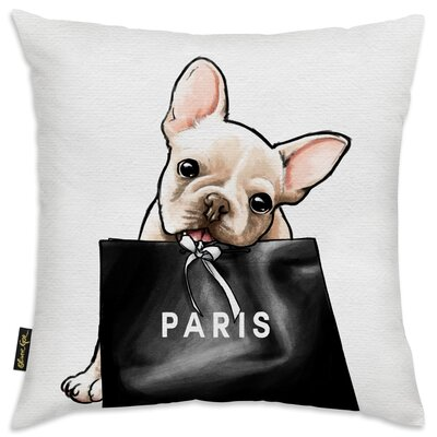 Woodward Frenchie Glam Paris Throw Pillow